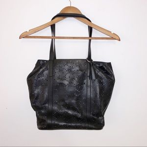 Lucky 🍀 brand black leather bag with pouch insert